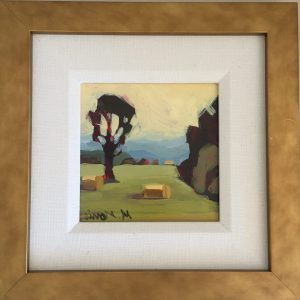 """Blue Ridge"" Framed 6″x6″ panel"